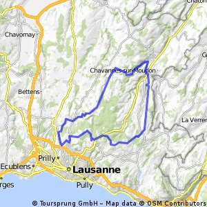 54 km : Romanel - Sottens - Moudon