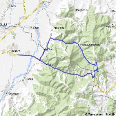 Stupinii Prejmerului - Teliu - Pasul Predelut - Pasul Dobarlau/Floroaia - Valea Dobarlaului - Dobarlau - Marcus - Stupini
