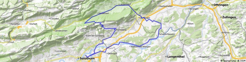 Zuchwil - Farnern - Balsthal - Kestenholz - Walliswil