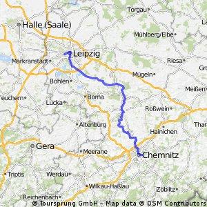 Chemnitz-Leipzig / schöne, ruhige Tour / Chemnitztal, Zwickauer Mulde