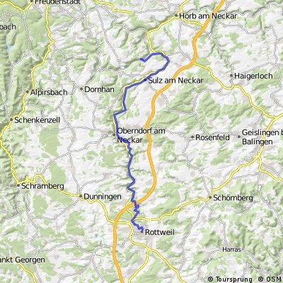 F Neckartour 1 Rottweil - Glatt