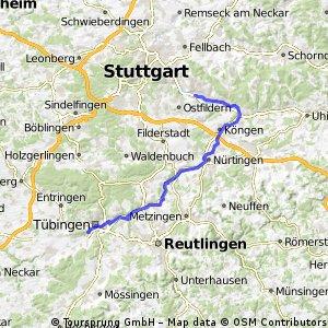 F Neckartour 3 Tübingen - Esslingen