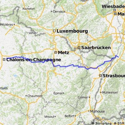 Karlsruhe nach Chalons en Champagne