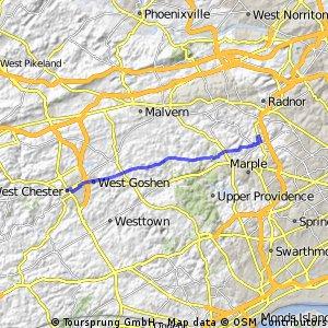 WestChester to BrynMawr
