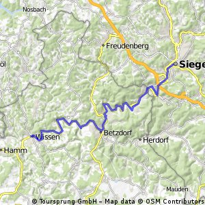 Kyll - Weser Etappe 4 Wissen - Siegen