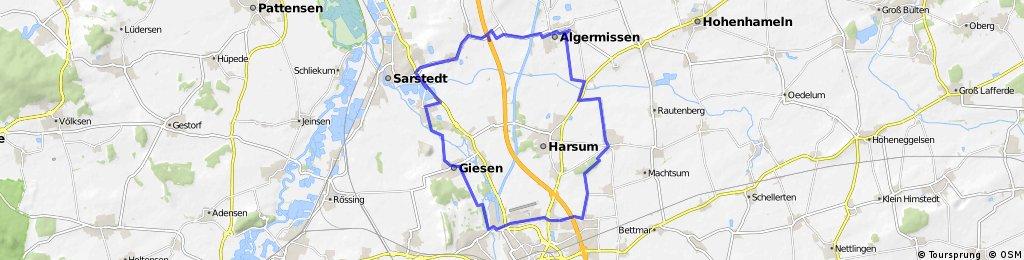 Rundkurs - Drispenstedt, Giesen, Ahrbergen, Algermissen, Borsum und zurück