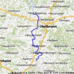 F Neckartour 4 Ludwigsburg - Bad Wimpfen