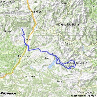 Cruis-Gorges de Verdon-Gruis