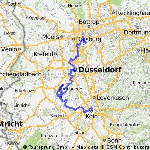 Köln - Grevenbroich - Düsseldorf - HRW