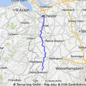 LEJOG Day 6 - Bridges YH to ChesterYH