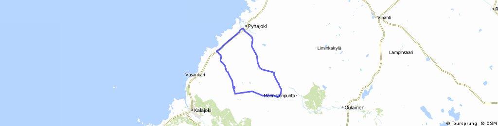 Pyhäjoki-Yppäri-Mehtäkylä-Merijärvi