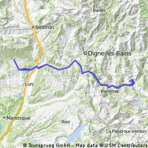 Cruis-Saint Andre les Alpes-Cruis