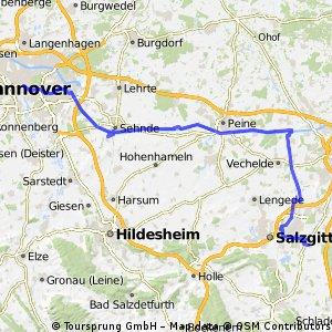 Hannover Hbf nach Leinde