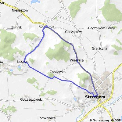 wyścig kolarski dla miasta Strzegom