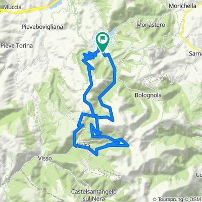 FIASTRA: Santuario di Macereto - Val di Panico - Rio Sacro