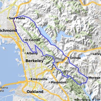 El Cerrito-San Pablo-Pinehurst-Grizzley loop