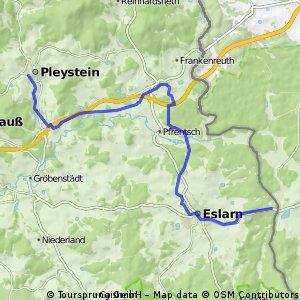 Route 2 - Pleystein - Tillyschanz (Bocklradweg)