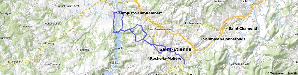 Grangent St-Rambert St-Just   Départ  10 Rue Calixte Plotton
