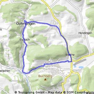 Kleine Blumberg Route auf geteerten Straßen und Wegen