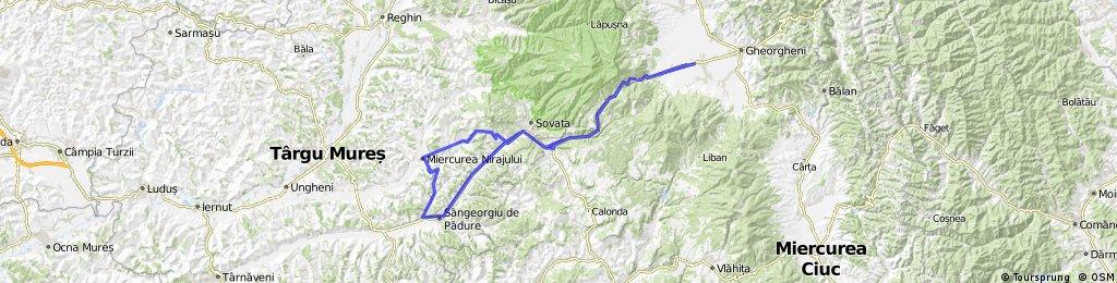 Borzont-Sóvárad-Nyárádmagyarós-Rigmány-Borzont