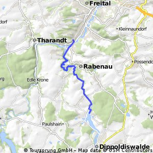 Wanderung Malter - Hainsberg