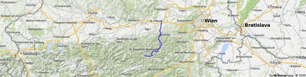 Mariazell über Terz nach St. Pölten