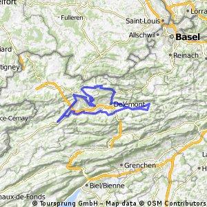 Boucle Haut-Plateau Valée de Delémont et Val terbi