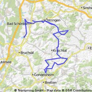 Radstrecke IRONMAN 70.3 Kraichgau