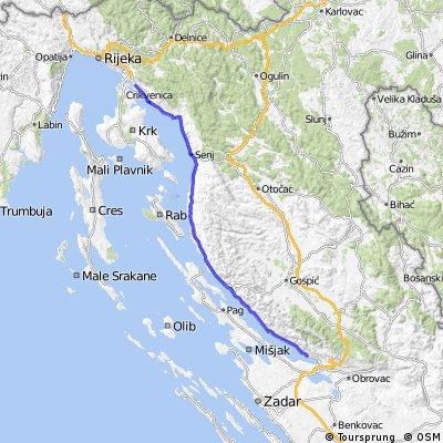 1.-2. nap Horvátország I.terv