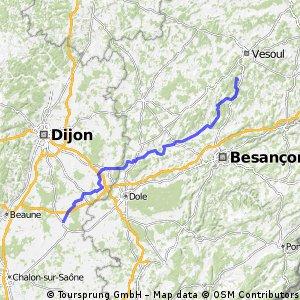 E3-1 La Magnoray bis Seurre 124 km 320 HM