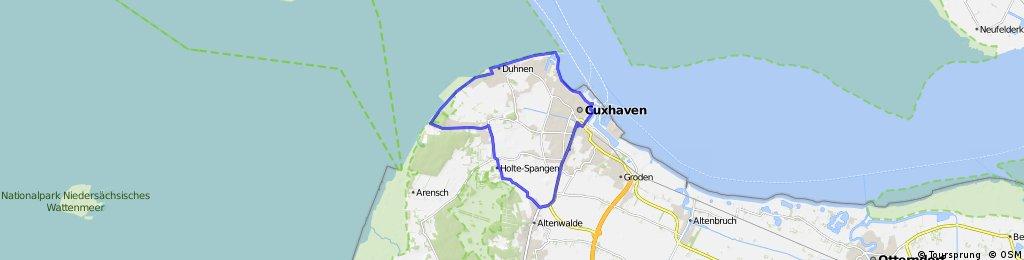 Altenwalde - Holte Spangen - Sahlenburg - Duhnen - Döse - Hafen