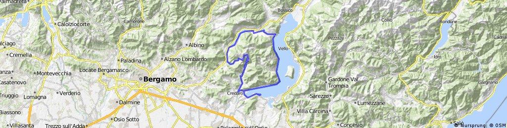 COLLE S.FERMO-Clusane-Sarnico-Adrara S.Martino-Adrara S. Rocco-S.Fermo-Grone-Acquasparsa-Casazza-Monasterolo del Castello-Valmaggiore-Riva di Solto-Tavernola Berg.a-Sarnico-Clusane