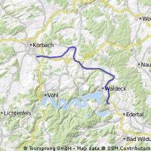 Ederseebahn-Radweg von Korbach nach Buhlen