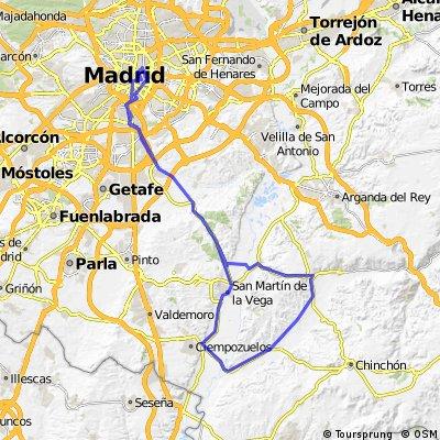 Madrid-Chinchon-Madrid con Ciclo Mosco