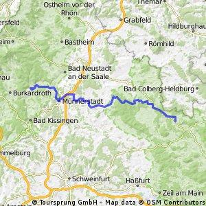 Landkreisumrundung Tag 2 Maro nach Steinach