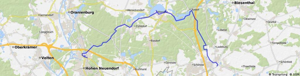 Birkenwerder - Wandlitz - Bernau
