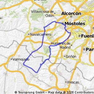 Mostoles-Loranca-Moraleja-Batres-Casarrubios-El Alamo-Joa