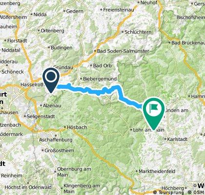 Geocaching-Tour auf der Birkenhainer Straße