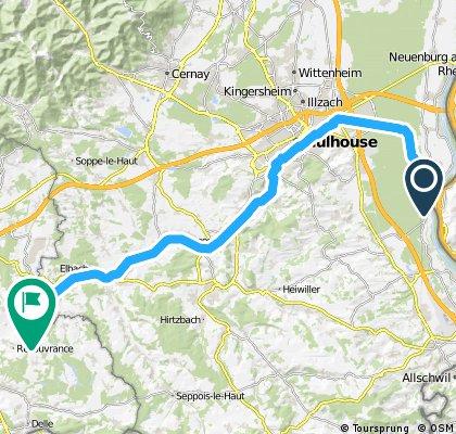 Véloroute du canal du Rhône au Rhin - branche sud.gpx