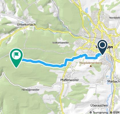 Von Brunnenstraße 31, 78050 Villingen-Schwenningen nach Pfeifferlochsee