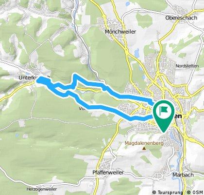 Von Brunnenstraße 31, Villingen-Schwenningen nach Moorsee