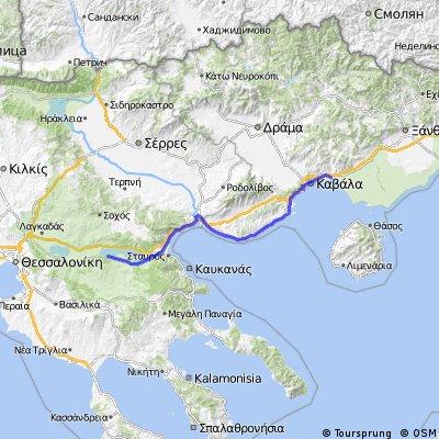 23B. Loutra Volvis - Nea Karvali - 129km