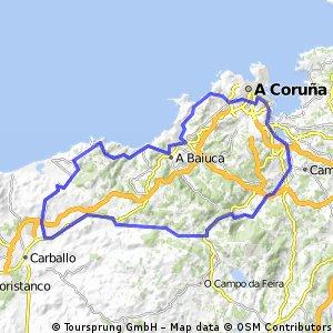 Ruta Coruña-Cantera-Laracha-Bértoa-Caión-Sabón-Bens