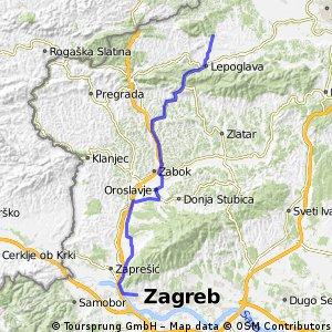 Zagreb (Gajnice) - Klenovnik (preko Donje Bistre)