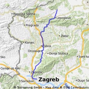 Zagreb (Gajnice) - Klenovnik (preko Gornje Bistre)