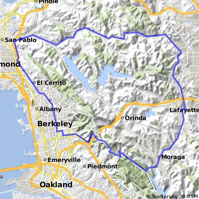 Cycling routes and bike maps in and around Berkeley Bikemap Your