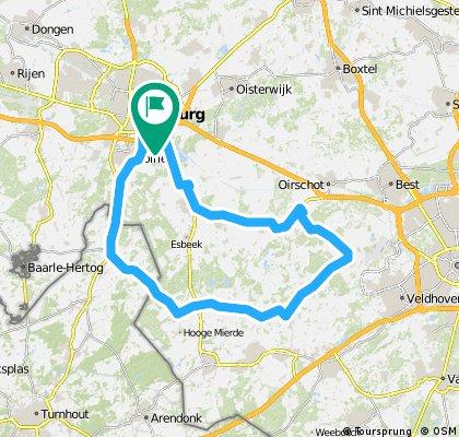 Middelbeers - Casteren - Lage Mierde - Poppel (68 km)