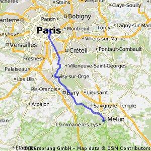 Paris - Melun (version plate)