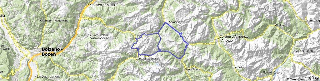 Maratona dles Dolomites: srednja, 106 km in 3090 vm