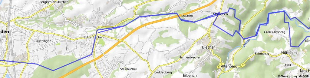MTB Route zur Dhünnthalsperre CLONED FROM ROUTE 264047